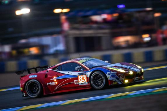 Second place in the 24 hours of Le Mans for Perrodo, Collard and Aguas in their Ferrari