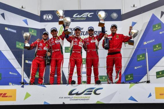 Fia Wec: following the one-two in GTE Pro and the second place in GTE Am, at Nuerburgring, Ferrari is first among the Constructors and AF Corse has the top spots