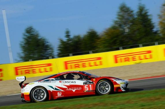 Mann and Guedes win the GTR Championship in the Blancpain Endurance Series at the wheel of the # 51 AF Corse Ferrari 458