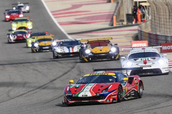 The AF Corse Ferrari 488 No.83 at the top of the LMGTE Am standing. First podium of the No.71 in LMGTE Pro