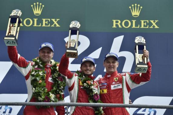 "The AF Corse Ferrari #51 won the ""24 Hour of Le Mans"" with Bruni, Fisichella and Vilander"