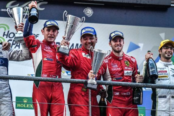 FIA WEC: Bird and Rigon win at Spa in the AF Corse Ferrari 488 #71. Second place in GTE Am for Perrodo, Collard and Aguas
