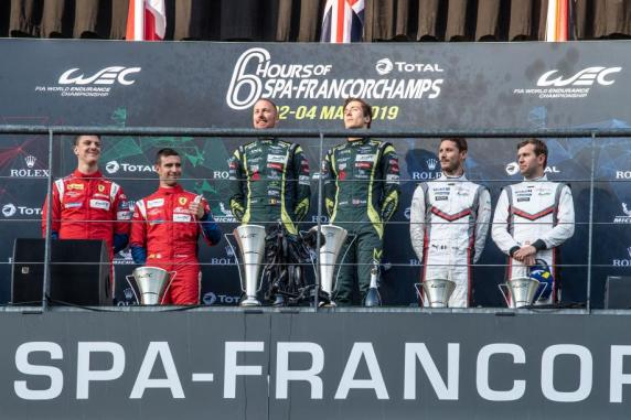 Podium in the 6 Hours of Spa