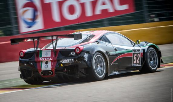 Niek Hommerson, Louis Machiels, Andrea Bertolini and Alessandro Pier Guidi won the 24 Hours of Spa on AF Corse Ferrari 458 Italia GT3 Pro Am