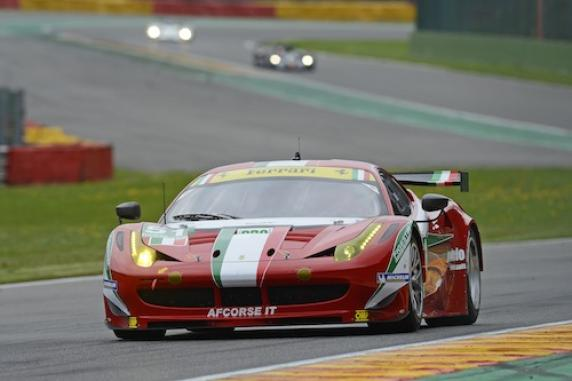 Fisichella and Bruni second at Spa on Ferrari 458 Italia and AF Corse is in the first position of the GTE Pro team classification. Great podium also for Perazzini-Cioci-Griffin in the GTE Am, at their debut in the WEC
