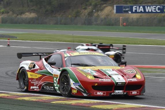 The AF Corse Ferraris ready for Le Mans