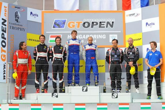 GT Open, Hungaroring: Roda is leading the GTS standing, Sdanewitsch is first in the Gentleman classification. Podium for Cameron-Griffin and Flohr took the first position in race 1 among the Gentleman