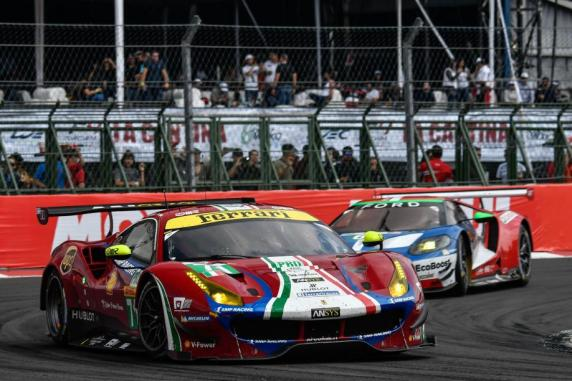 Second spot in Mexico and Ferrari is leading among the GT Manufacturers