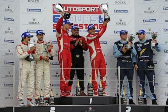 Giancarlo Fisichella and Gianmaria Bruni are the champions of the Le Mans Series with AF Corse Ferrari 458