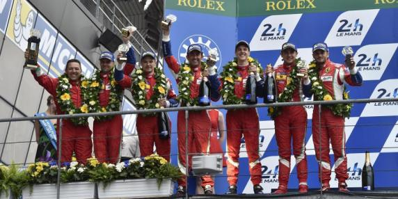 """24 Hours of Le Mans"": double podium for the AF Corse Ferrari 458's and leaderships more and more strong in championship"