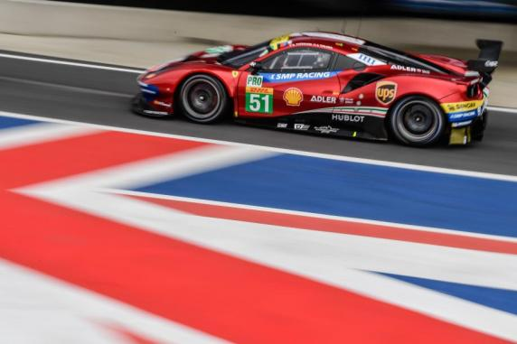 At Silverstone, Ferrari and AF Corse won with Pier Guidi and Calado